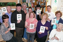 There's a Bairn in my Broth authors - L to R: Jay Wilson, Gerard Rochford, Keith Murray, Sheila Templeton, Mary Simpson, Doirena Culloty, John Mackie, Olivia McMahon, Haworth Hodgkinson, Judith Taylor, Valerie Faith Irvine-Fortescue